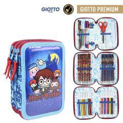 Plumier Triple Giotto Premium Pvc Harry Potter 19 Cm