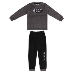 Pijama Largo Velour Cotton Star Wars