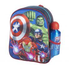 Mochila Infantil 3D Con Accesorios Avengers 31 Cm