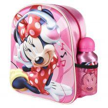 Mochila Infantil 3D Con Accesorios Minnie 31 Cm
