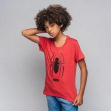 Camiseta Corta Premium Lentejuelas Spiderman
