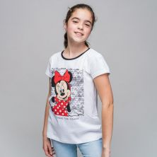 Camiseta Corta Premium Algodón Minnie