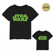 Camiseta Corta Glow In The Dark Star Wars