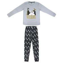 Pijama Adulto largo Glitter Interlock Disney Villanas