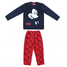Pijama Largo Velour Cotton Mickey